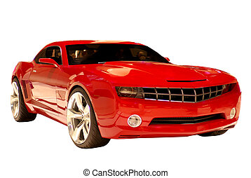 voiture, concept, muscle