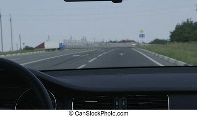 voiture, conduite, autoroute