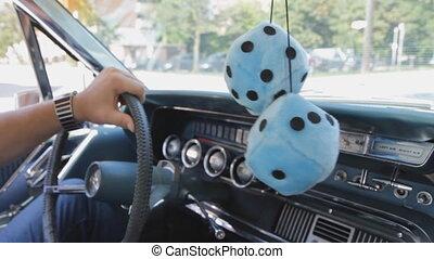 voiture, cruising., classique