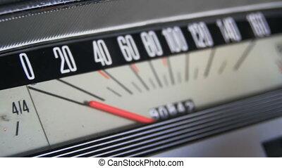 voiture d'époque, speedometer.