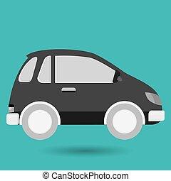 voiture, emplacement, épingle, icône
