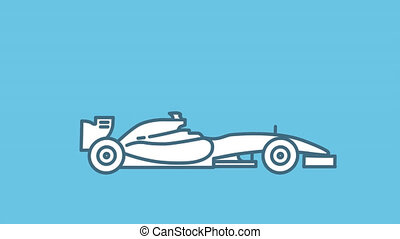 voiture, f1, alpha, courses, icône, ligne, canal