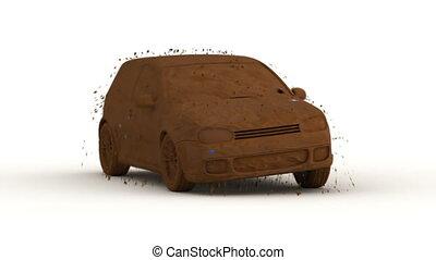 voiture, jeûne, laver