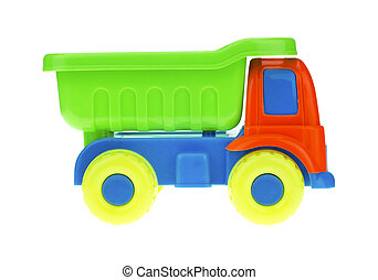 voiture, jouet, isolé, coloré, white.
