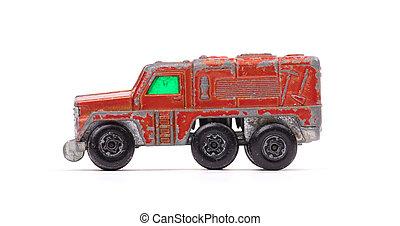 voiture, jouet, métal, rouges