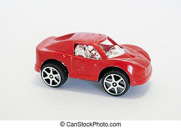 voiture, jouet, rouges