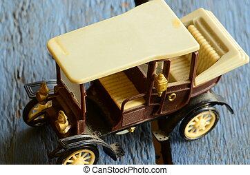 voiture jouet, vendange