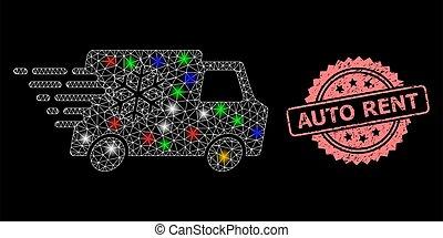 voiture, loyer, filet, éclat, détresse, réfrigérateur, cachet, taches, auto