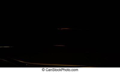 voiture, lumières, police, sombre, clignotant