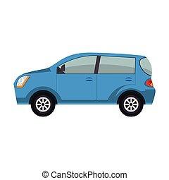 voiture, moderne, icône
