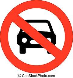 voiture, non, signe