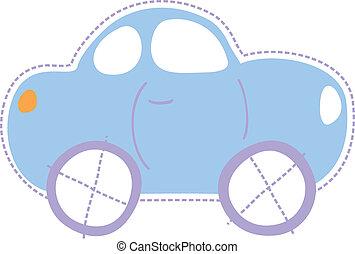 voiture, peu, enfance
