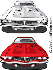 voiture, plymouth, muscle, 'cuda