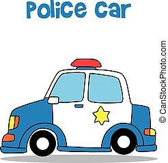 voiture, police, collection, stockage