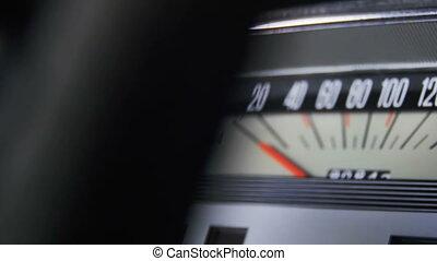 voiture, retro, speedometer.