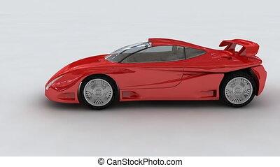 voiture, rouges, concept, sports