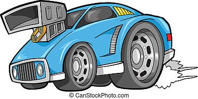 voiture, rue, véhicule, vecteur