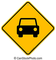 voiture, signe jaune