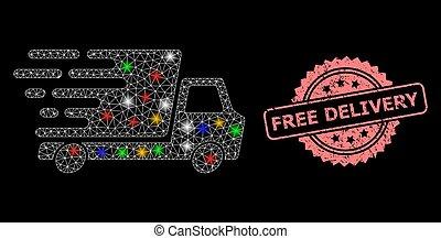 voiture, tampon, lumière, taches, gratuite, maille, livraison