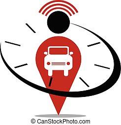 voiture, temps, emplacement, alerte