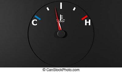 voiture, thermomètre