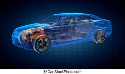 voiture, transparent, concept