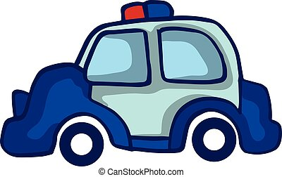 voiture, vecteur, police, collection, stockage
