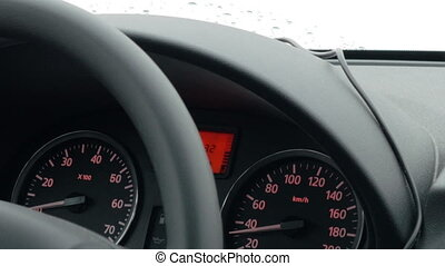 voiture, vitesse, bas, timelapse, conduite