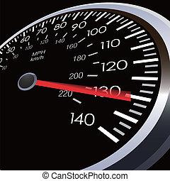 voiture, vitesse, mètre