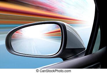 voiture, vitesse, route