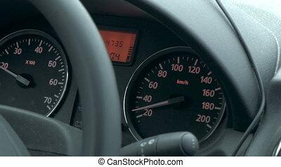 voiture, vitesse, voyager, bas