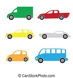 voitures, 2, dessin animé