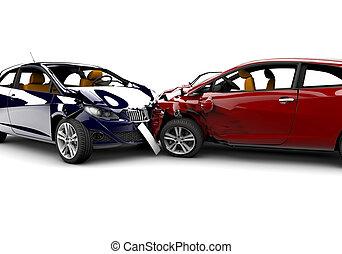 voitures, accident, deux