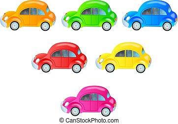 voitures, coloré