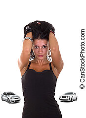 voitures, girl, amours, coûteux