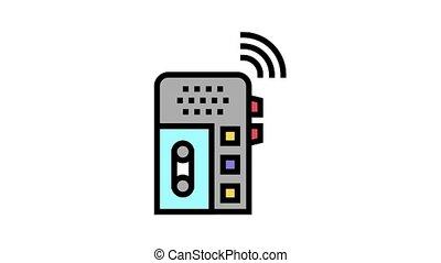 voix, gadget, enregistreur, icône, animation, couleur, dictaphone
