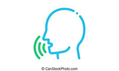 voix, humain, animation, icône, contrôle