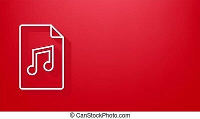 voix, icône, musique, enregistrement, style., icon., graphics., musique, mouvement, plat