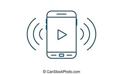 voix, musique, plat, icon., musique, style., enregistrement, graphics., icône, mouvement
