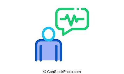 voix, orateur, animation, icône, contrôle