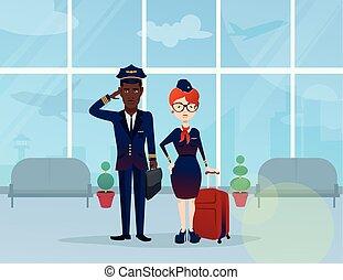 vol, jeune, serviteur, pilote