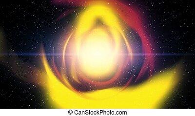 vol, sci-fi, trou ver, science, ver, fiction, par, vent, étoiles, trou, solaire
