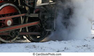 volant, vapeur, locomotive