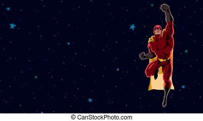 voler, 2, superhero, espace