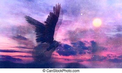 voler, ailé, lumière, ciel, ampoule, nuageux, ideas.