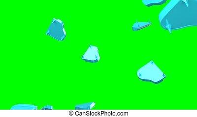 voler, arrière-plan., clã©, bleu vert, chroma, pianos
