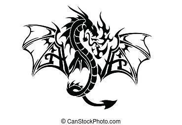 voler, art, dragon