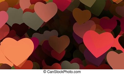 voler, cœurs, divers, couleurs