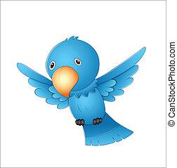 voler, dessin animé, oiseau