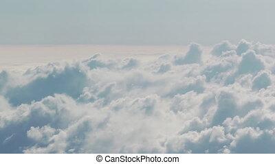 voler, journée, nuages, au-dessus, prise vue aérienne, avion